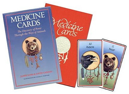 Medicine Cards - original 1988, 44-animal deck with red book